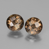 thumb image of 3.1ct Round Checkerboard Brown Smoky Quartz (ID: 448144)