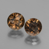 thumb image of 3.8ct Round Checkerboard Brown Smoky Quartz (ID: 448148)