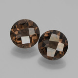 thumb image of 3.1ct Round Checkerboard Brown Smoky Quartz (ID: 448212)
