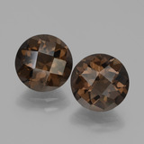 thumb image of 3.7ct Round Checkerboard Brown Smoky Quartz (ID: 448215)