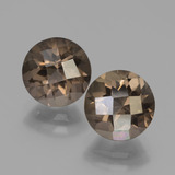thumb image of 3.8ct Round Checkerboard Brown Smoky Quartz (ID: 448216)
