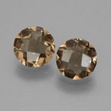 thumb image of 2.4ct Round Checkerboard Brown Smoky Quartz (ID: 448262)