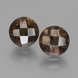 thumb image of 3.3ct Round Checkerboard Brown Smoky Quartz (ID: 448265)