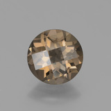 thumb image of 1.4ct Round Checkerboard Brown Smoky Quartz (ID: 448320)