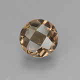 thumb image of 1.3ct Round Checkerboard Brown Smoky Quartz (ID: 448371)