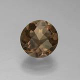 thumb image of 1.5ct Round Checkerboard Brown Smoky Quartz (ID: 448376)