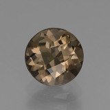 thumb image of 1.6ct Round Checkerboard Brown Smoky Quartz (ID: 448442)