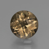 thumb image of 2.3ct Round Checkerboard Brown Smoky Quartz (ID: 448443)