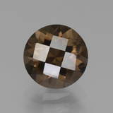 thumb image of 2.3ct Round Checkerboard Brown Smoky Quartz (ID: 448448)