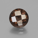 thumb image of 3.1ct Round Checkerboard Brown Smoky Quartz (ID: 448454)