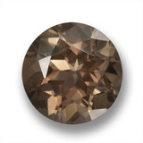 thumb image of 6.3ct Sfaccettatura rotonda Warm Brown Quarzo fumé (ID: 459419)