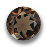 thumb image of 9.2ct Round Facet Brown Smoky Quartz (ID: 459462)