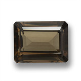 thumb image of 24.7ct Octagon Step Cut Brown Smoky Quartz (ID: 461402)
