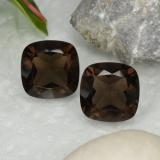 thumb image of 13.2ct Cushion-Cut Brown Smoky Quartz (ID: 466253)