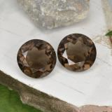 thumb image of 13.7ct Round Facet Brown Smoky Quartz (ID: 466284)