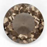 thumb image of 22.7ct Round Facet Light Brown Smoky Quartz (ID: 497335)
