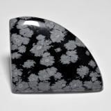 thumb image of 44.6ct Shark Fin Cabochon Multicolor Snowflake Obsidian (ID: 485664)