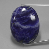 thumb image of 40.9ct Oval Cabochon Violet Blue Sodalite (ID: 402329)