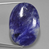 thumb image of 38.1ct Oval Cabochon Violet Blue Sodalite (ID: 402332)