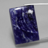 thumb image of 50.1ct Baguette Cabochon Violet Blue Sodalite (ID: 402337)