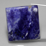 thumb image of 78.5ct Square Cabochon Violet Blue Sodalite (ID: 402339)