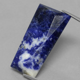 thumb image of 20.3ct Trapezoid Rose-Cut Violet Blue Sodalite (ID: 429643)