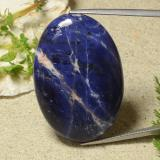 thumb image of 42.9ct Oval Cabochon Violet Blue Sodalite (ID: 486680)