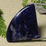 thumb image of 53.9ct Shark Fin Cabochon Violet Blue Sodalite (ID: 486706)