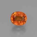 thumb image of 1.1ct Oval Facet Orange Spessartite Garnet (ID: 368667)
