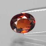 thumb image of 1.5ct Oval Facet Red Orange Spessartite Garnet (ID: 388645)
