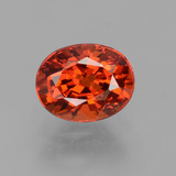 thumb image of 1.1ct Oval Facet Red Orange Spessartite Garnet (ID: 388690)