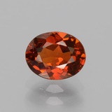 thumb image of 1.3ct Oval Facet Red Orange Spessartite Garnet (ID: 388770)