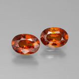 thumb image of 2.1ct Oval Facet Red Orange Spessartite Garnet (ID: 388783)