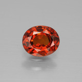 thumb image of 1ct Oval Facet Red Orange Spessartite Garnet (ID: 388876)