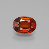thumb image of 1ct Oval Facet Fire Red Spessartite Garnet (ID: 388878)