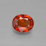 thumb image of 1ct Oval Facet Red Orange Spessartite Garnet (ID: 388881)
