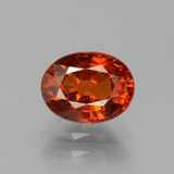 thumb image of 1.4ct Oval Facet Red Orange Spessartite Garnet (ID: 389069)