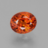 thumb image of 0.9ct Oval Facet Red Orange Spessartite Garnet (ID: 389110)
