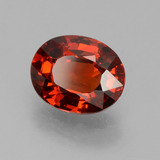 1.15 ct Oval Facet Red Orange Spessartite Garnet Gem 7.03 mm x 5.6 mm (Photo B)