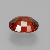 1.15 ct Oval Facet Red Orange Spessartite Garnet Gem 7.03 mm x 5.6 mm (Photo C)