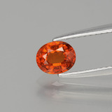 thumb image of 0.8ct Oval Facet Orange Spessartite Garnet (ID: 389937)