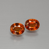 thumb image of 1ct Oval Facet Red Orange Spessartite Garnet (ID: 390013)