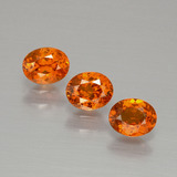 thumb image of 1.2ct Oval Facet Orange Spessartite Garnet (ID: 390016)