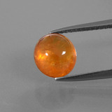 thumb image of 3.5ct Oval Cabochon Orange Spessartite Garnet (ID: 390400)