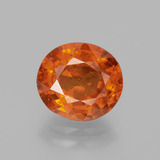 thumb image of 3.6ct Oval Facet Orange Spessartite Garnet (ID: 390783)