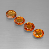 thumb image of 1.7ct Oval Facet Red Orange Spessartite Garnet (ID: 395460)