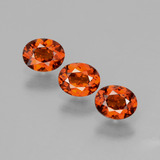 thumb image of 1ct Oval Facet Red Orange Spessartite Garnet (ID: 395966)