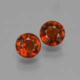 thumb image of 1.3ct Round Facet Orange Spessartite Garnet (ID: 401541)