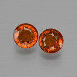 thumb image of 1.4ct Round Facet Orange Spessartite Garnet (ID: 401550)