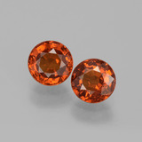 thumb image of 1.5ct Round Facet Red Orange Spessartite Garnet (ID: 401586)